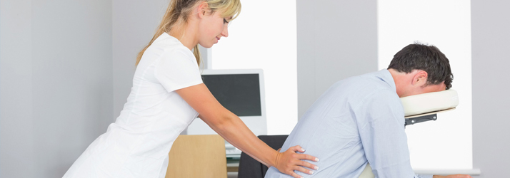 Chair Massage at Corrective Chiropractic Clinic in New Buffalo MI